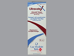 Ultravate X 0.05 %-10 % topical pack, cream and cream