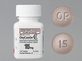 OxyContin 15 mg tablet,crush resistant,extended release