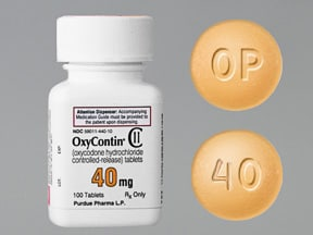 OxyContin 40 mg tablet,crush resistant,extended release
