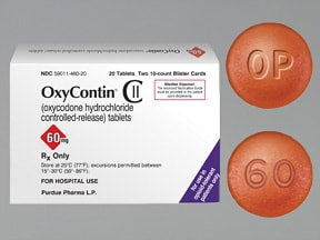 OxyContin 60 mg tablet,crush resistant,extended release