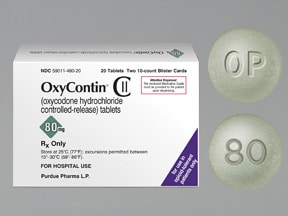 OxyContin 80 mg tablet,crush resistant,extended release