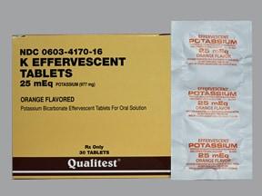 K-Effervescent 25 mEq tablet