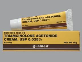 triamcinolone acetonide 0.025 % topical cream