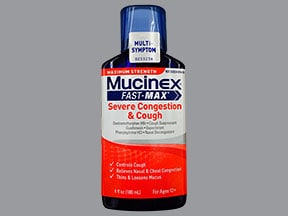 Mucinex Fast-Max Congestion-Cough 2.5 mg-5 mg-100 mg/5 mL oral liquid