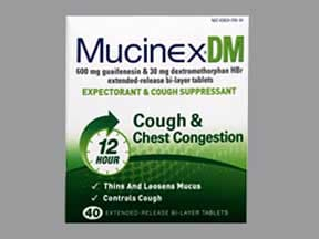 Mucinex DM 30 mg-600 mg tablet,extended release 12 hr