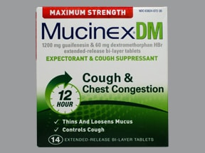 Mucinex DM 60 mg-1,200 mg tablet,extended release 12 hr