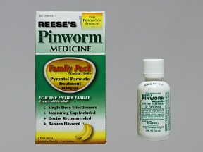 Reese's Pinworm Medicine 50 mg/mL oral suspension