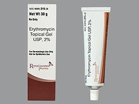erythromycin with ethanol 2 % topical gel