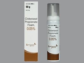 clobetasol 0.05 % topical foam