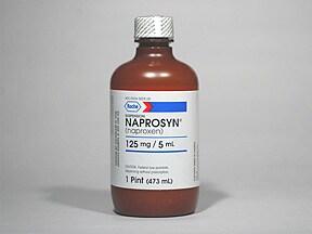 Naprosyn 125 mg/5 mL oral suspension