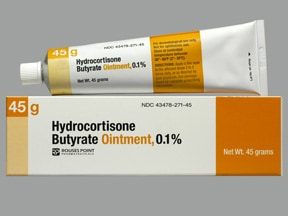 hydrocortisone butyrate 0.1 % topical ointment