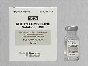 acetylcysteine 100 mg/mL (10 %) solution