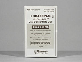 Lorazepam Intensol 2 mg/mL oral concentrate