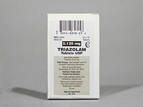 triazolam 0.125 mg tablet
