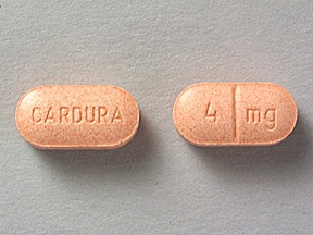 Cardura 4 mg tablet