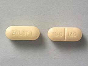 Zoloft 100 mg tablet