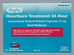 Heartburn Treatment 24 Hour 15 mg capsule,delayed release