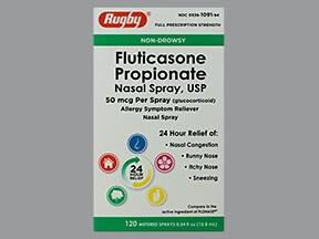 fluticasone 50 mcg/actuation nasal spray,suspension