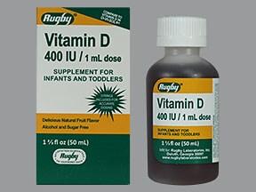 cholecalciferol (vitamin D3) 400 unit/mL oral drops