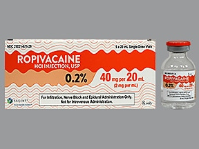 ropivacaine (PF) 2 mg/mL (0.2 %) injection solution