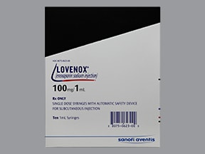 Lovenox 100 mg/mL subcutaneous syringe