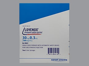 Lovenox 30 mg/0.3 mL subcutaneous syringe