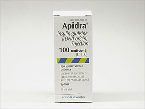 Apidra 100 unit/mL subcutaneous solution