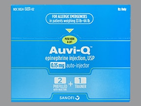 Auvi-Q 0.15 mg/0.15 mL injection,auto-injector