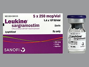 Leukine 250 mcg solution for injection