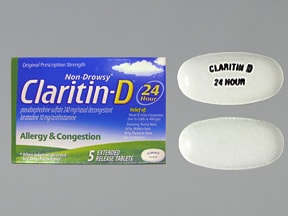 Claritin-D 24 Hour 10 mg-240 mg tablet,extended release