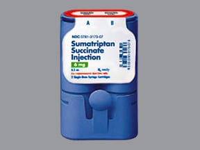sumatriptan 6 mg/0.5 mL subcutaneous cartridge (refill)
