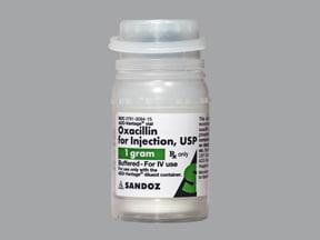 oxacillin 1 gram intravenous solution