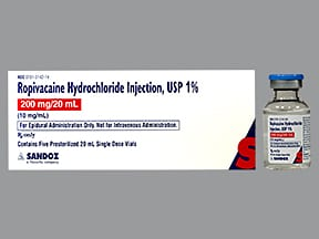ropivacaine (PF) 10 mg/mL (1 %) injection solution