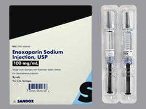 enoxaparin 100 mg/mL subcutaneous syringe