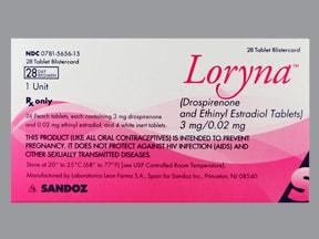 Loryna (28) 3 mg-20 mcg tablet