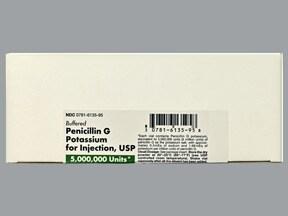 penicillin G potassium 5 million unit solution for injection