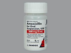 amoxicillin 200 mg/5 mL oral suspension