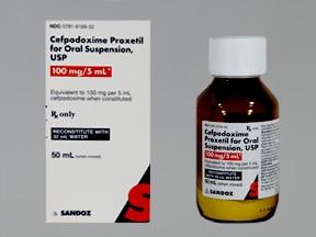 cefpodoxime 100 mg/5 mL oral suspension