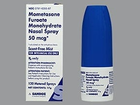 mometasone 50 mcg/actuation nasal spray