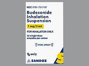 budesonide 1 mg/2 mL suspension for nebulization