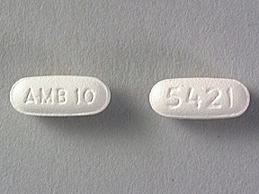 Ambien 10 mg tablet