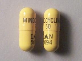 minocycline 50 mg capsule
