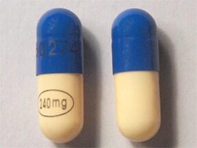 Verelan 240 mg capsule,extended release