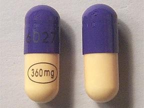 Verelan 360 mg capsule,extended release