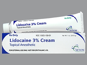 lidocaine HCl 3 % topical cream