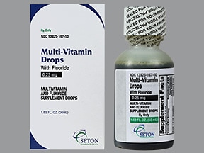 Multi-Vitamin With Fluoride 0.25 mg/mL oral drops