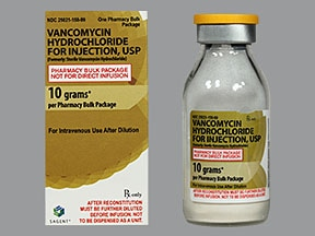 vancomycin 10 gram intravenous solution