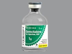 gemcitabine 1 gram intravenous solution
