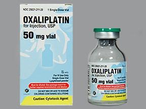oxaliplatin 50 mg intravenous solution
