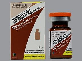 irinotecan 100 mg/5 mL intravenous solution